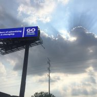 A large 14x48 Digital LED Billboard in Chicago, Illinois built and installed by Media Resources