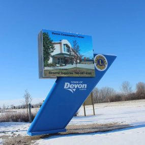 Town of Devon Outdoor LED Sign