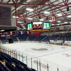 Digital Sports Scoreboard hockey arena photo