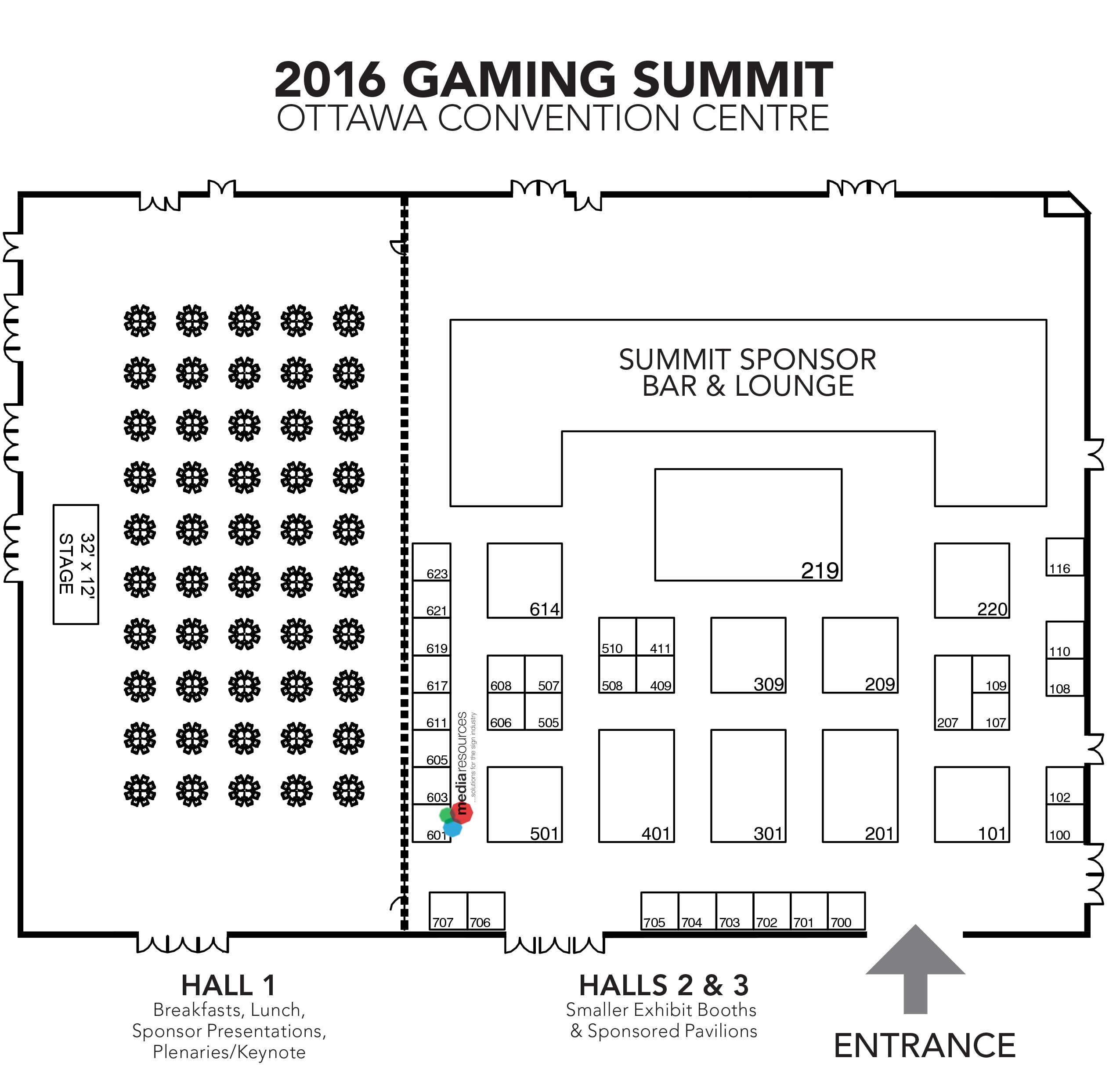 2016 Canadian gaming Summit Floorplan media resources