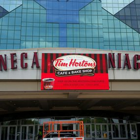 Seneca Casino LED screen Canadian gaming summit