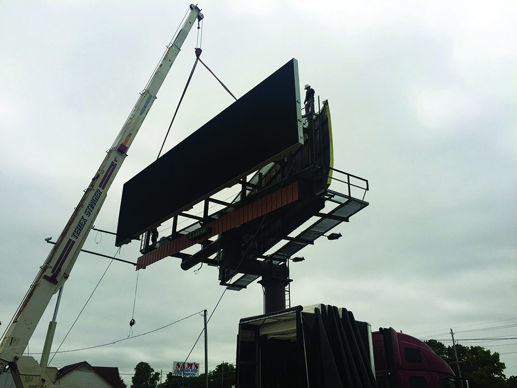 Building and installing a digital led billboard
