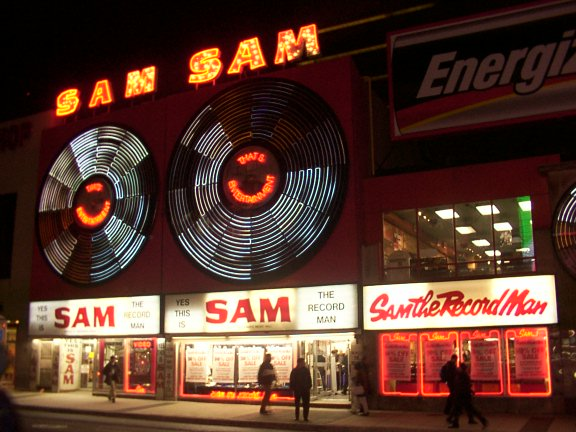 Sam the Record Man Toronto Sign Media Resources Night
