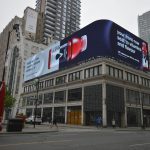 digital led, hard rock cafe, shoppers drug mart, led signs, toronto, yonge and dundas, bell media, astral media, 10mm smd display