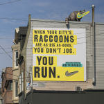 nike raccoon toronto 3d billboard