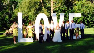 3D Printed letters for use at Wedding