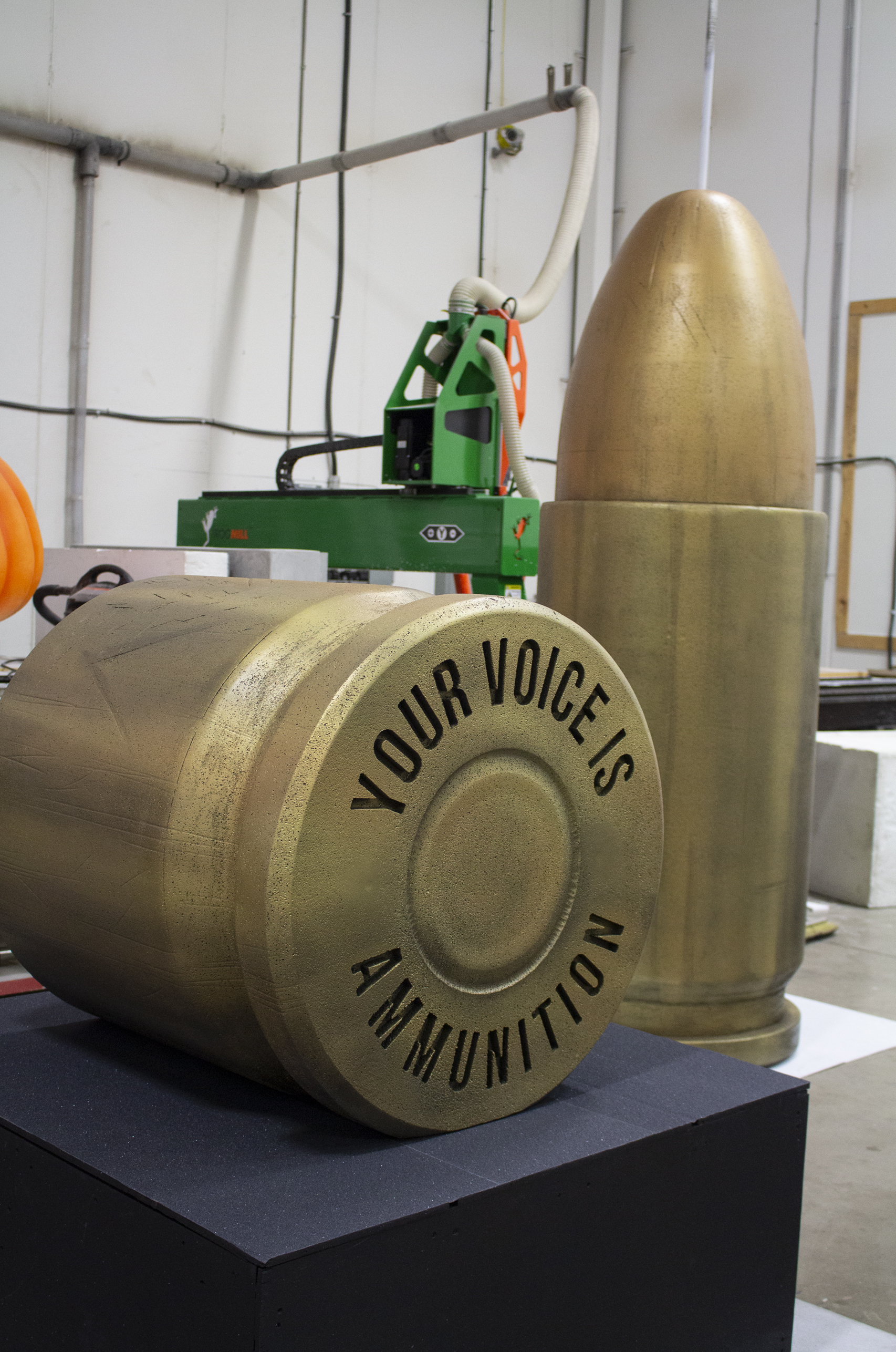 Anti-Gun Not-for-Profit Commissioned 13ft Bullet Structure | 3D Printing | 3D Fabrication