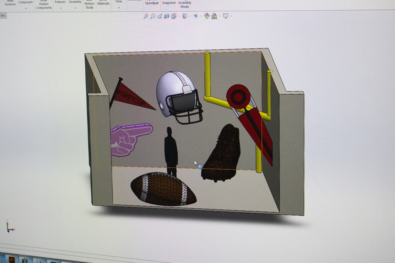 Digital 3D model of proposed CFL Grey Cup project