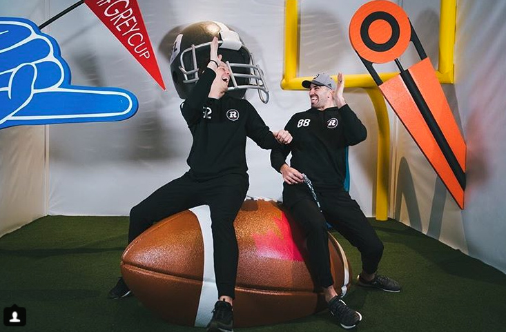 RedBlacks Sit on 3D Football by Media Resources