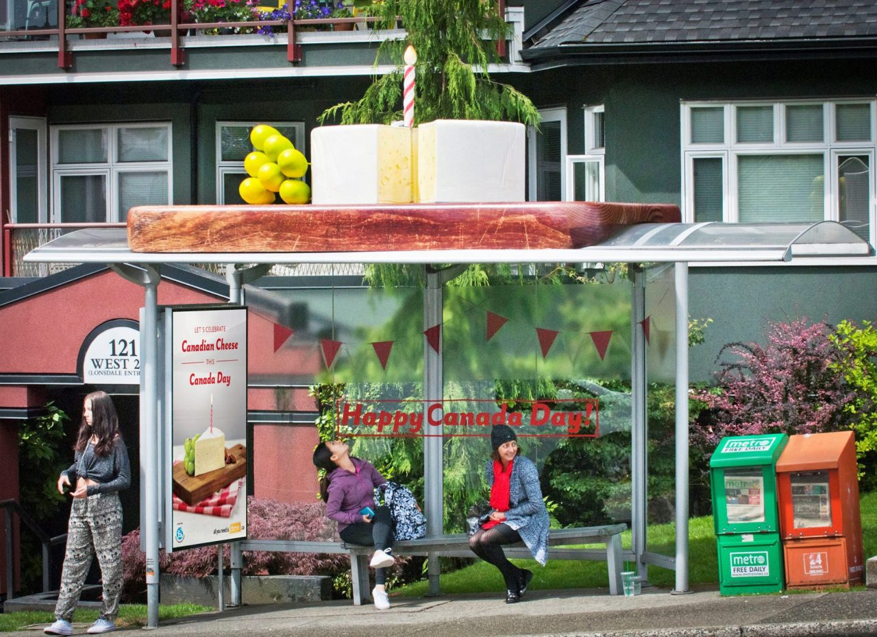 Cheese Board Bus Shelter Topper