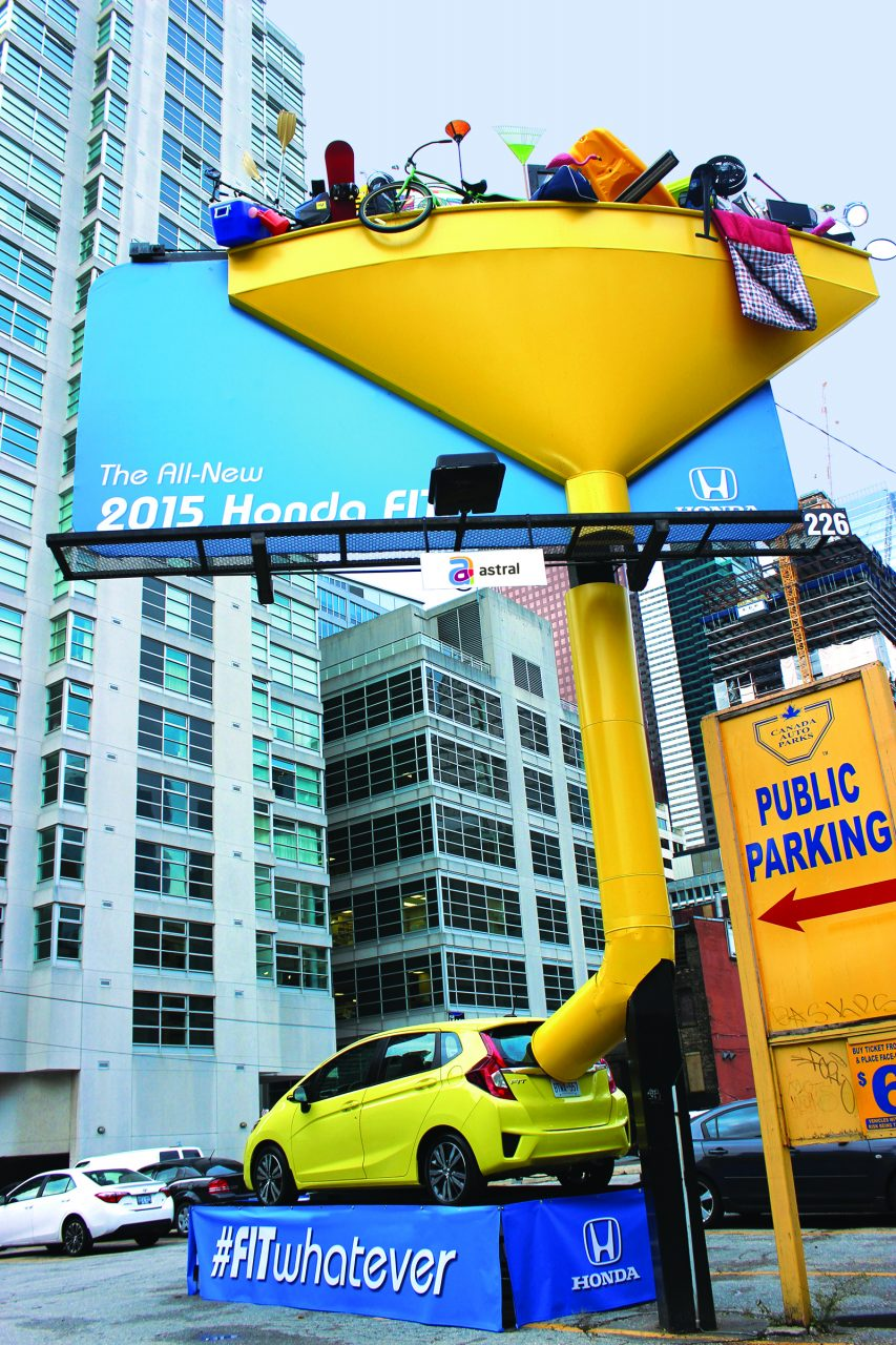 Honda Fit Funnel Billboard with 3D Extension