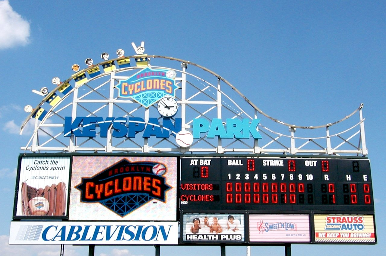 Monochrome Scoreboard for Brooklyn Cyclones in New York City