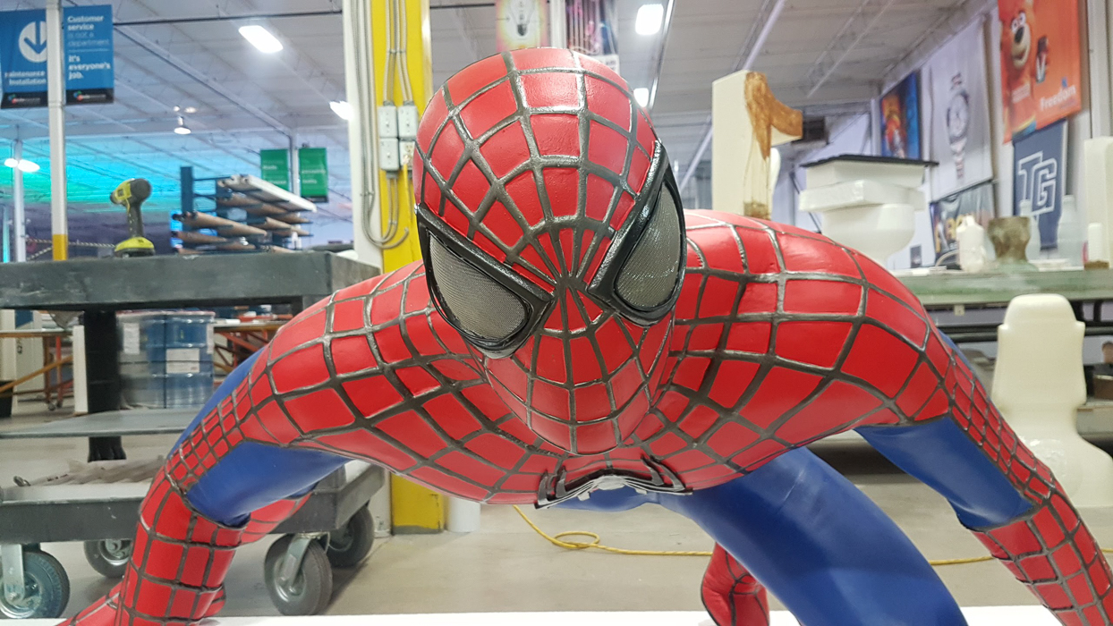 Life-sized 3D printed Spider-Man