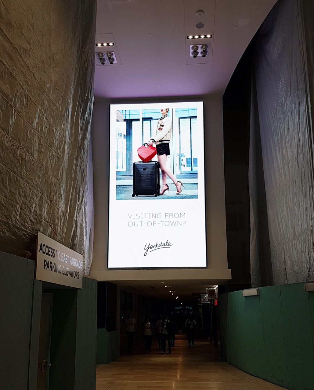 Indoor LED at Yorkdale Mall in Toronto