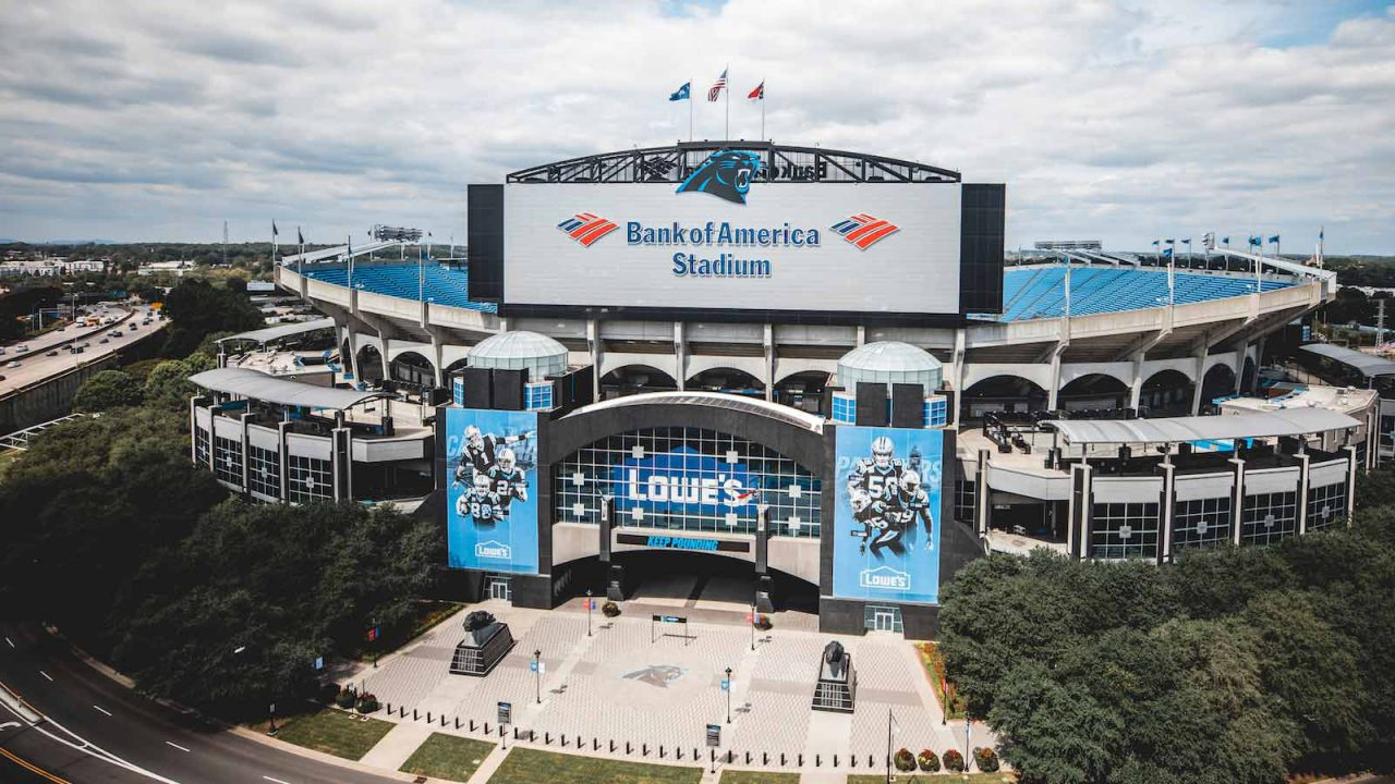 Bank of America Stadium banners using Frameless Frame system in Charlotte, NC