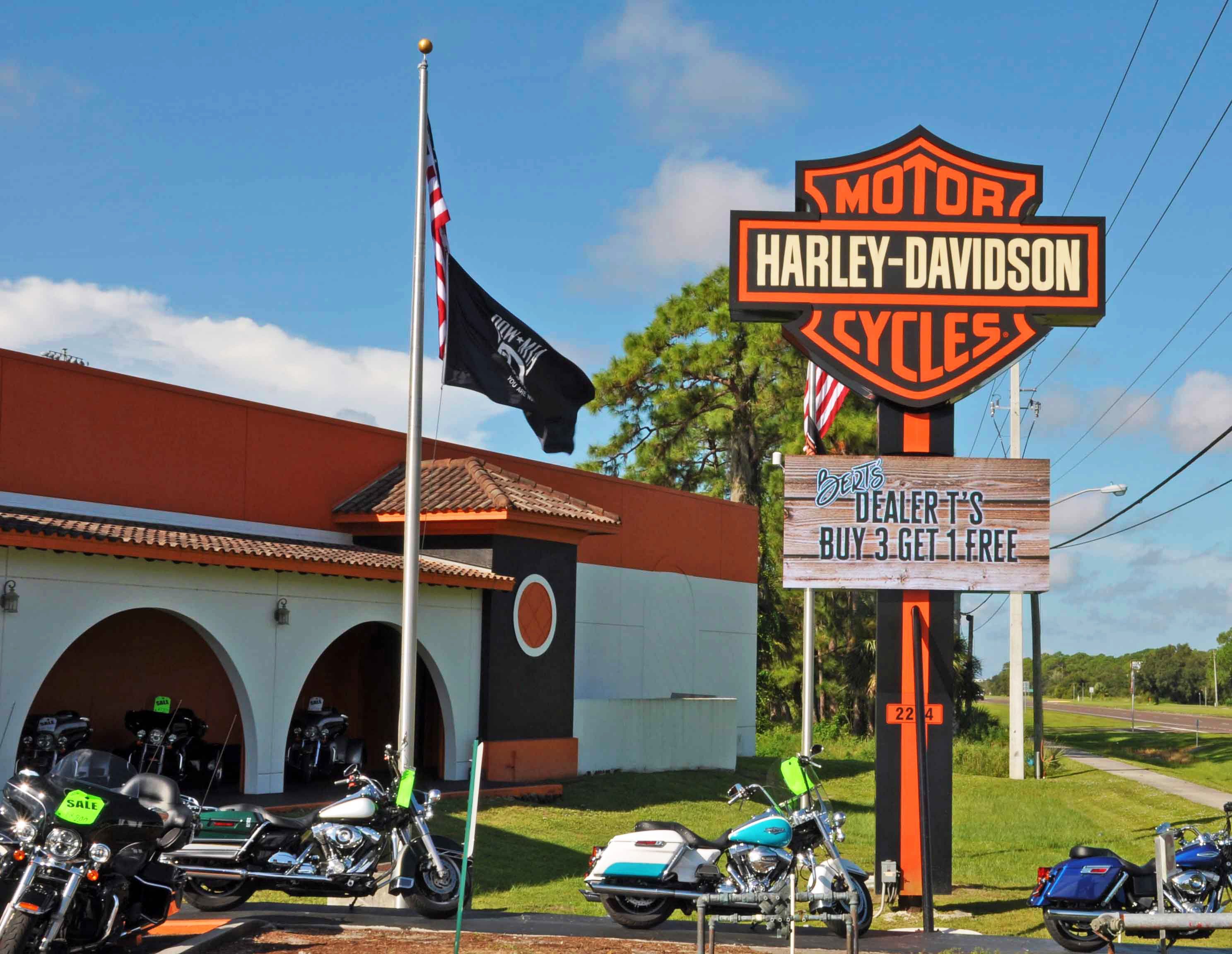 Outdoor On-Premise LED for Bert's Black Widow Harley-Davison in Port Charlotte, FL