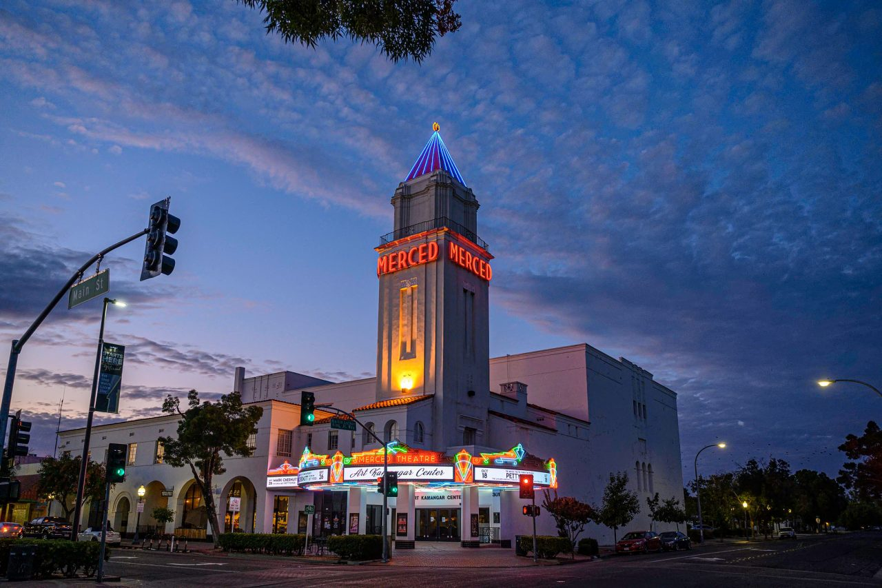 Merced Theater LED retrofit preserves historic Spanish Revival architecture in Merced, CA
