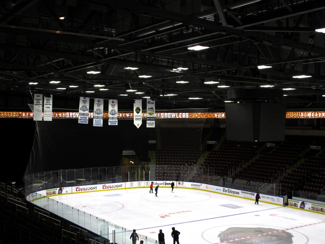 LED ribbon surrounds the Mile One Centre's rink in St. John's, NL
