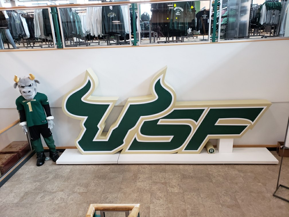 3D printed logo for the University of South Florida