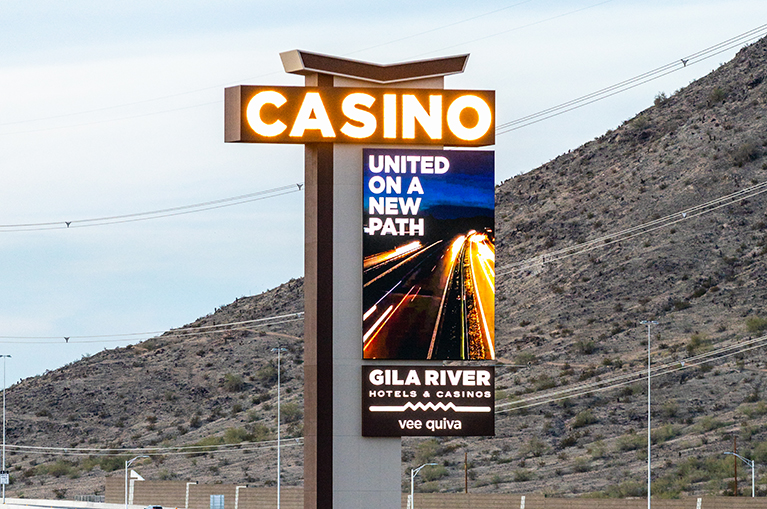 Gila River Hotel and Casino's new sign is the tallest pylon in Arizona