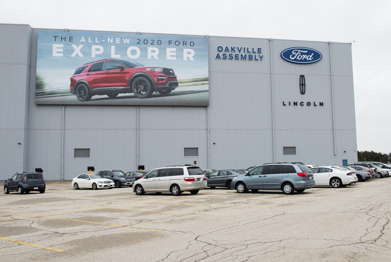 Print banner for Ford Assembly Plant in Oakville