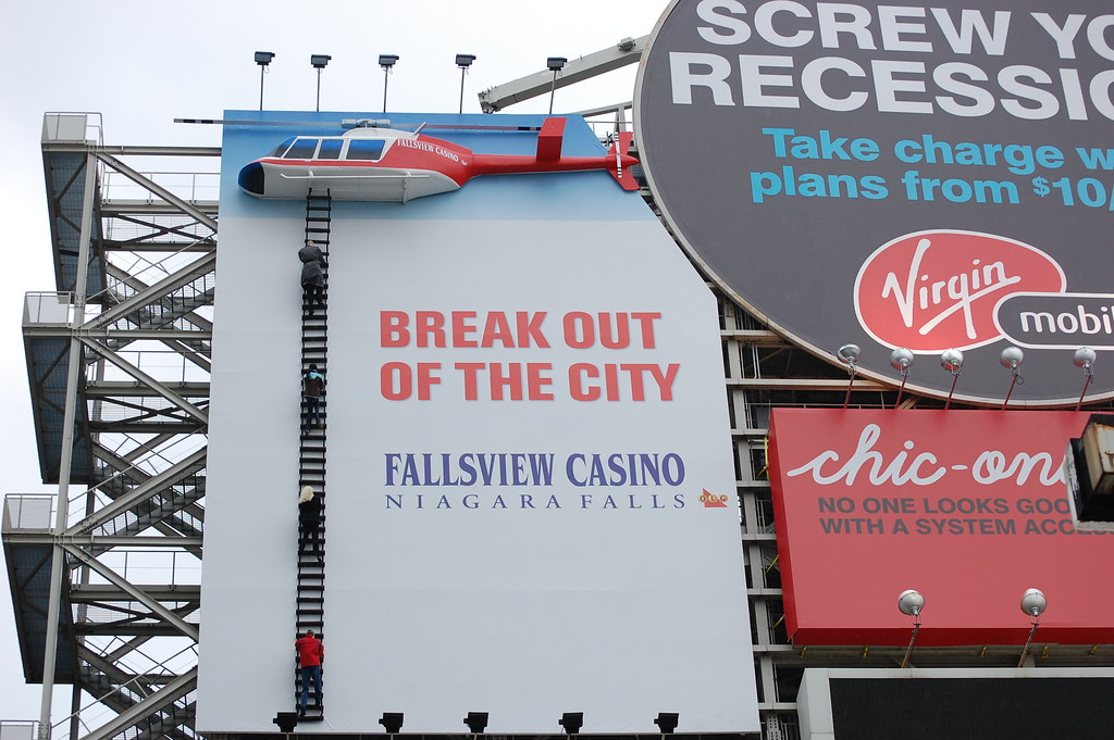 3D printed helicopter for Fallsview Casino's billboard in Dundas Square, Toronto, ON