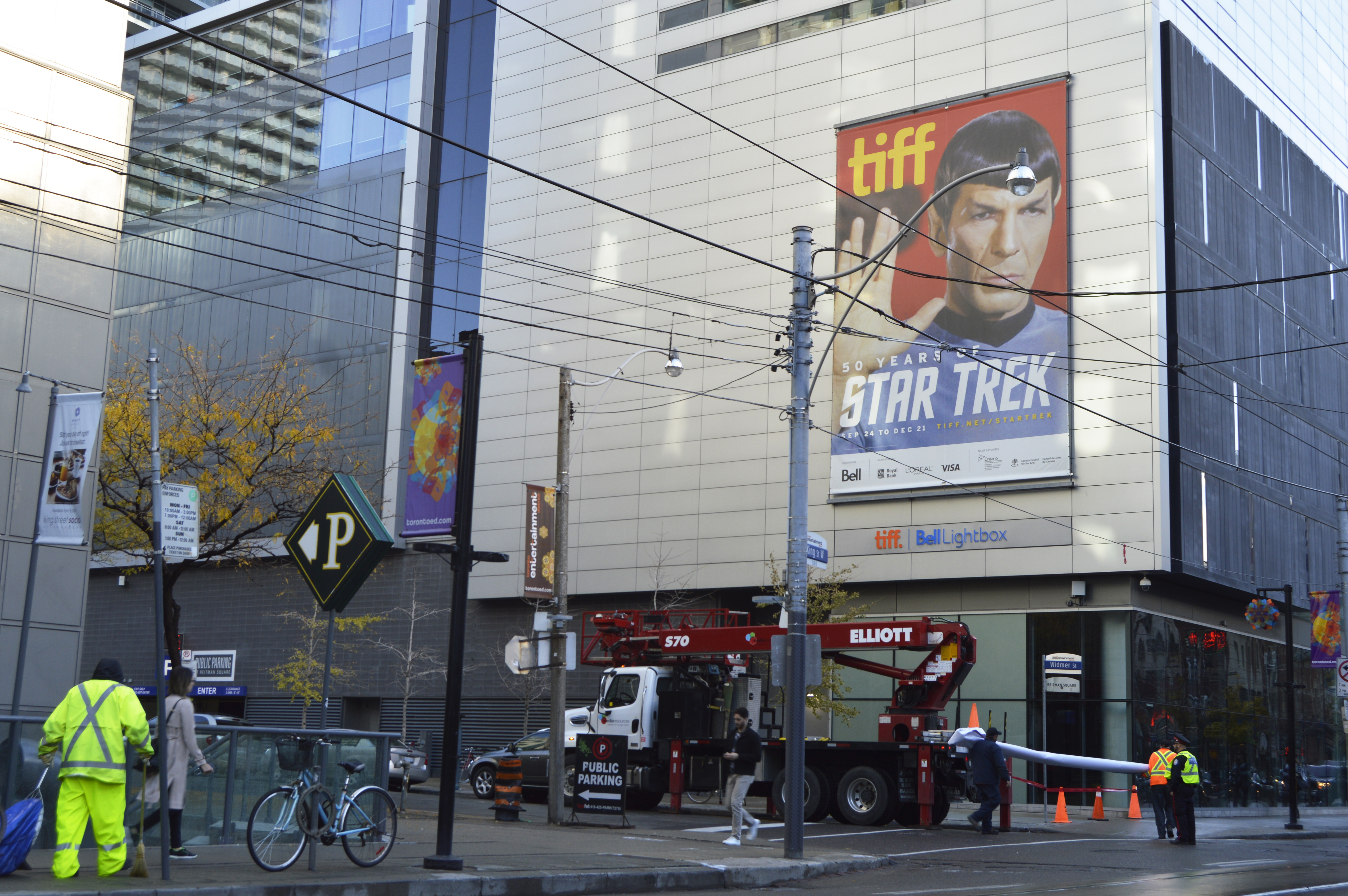 TIFF celebrates 50 years of Star Trek, banners printed and installed by Media Resources using the Frameless Frame system, Toronto, ON
