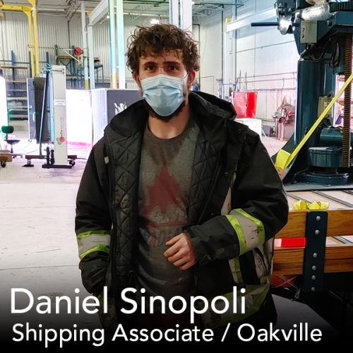 Headshot of our Shipping Associate in Oakville Ontario at Media Resources