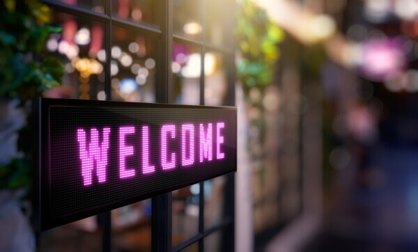 Welcome LED Signage
