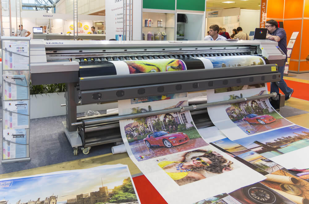 Wide Format Printer at the International Trade Fair Reklama 2015 Advertising Expo in Moscow.