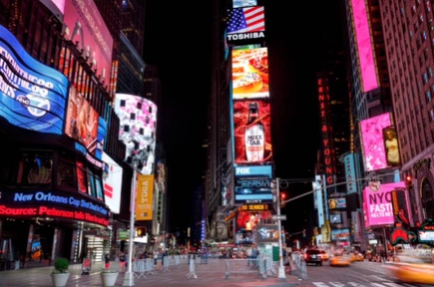 Times Square Featured With Broadway Theaters and Animated LED Signs in Manhattan, New York City.
